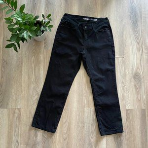 Signature by Levi's Black Straight High-Rise Jeans